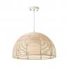 Lámpara colgante de rattan natural beige oriental para cocina Sol Naciente