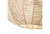Lámpara colgante de rattan natural beige oriental para salón Sol Naciente