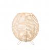 Lámpara de mesa de rattan natural beige oriental para salón Sol Naciente