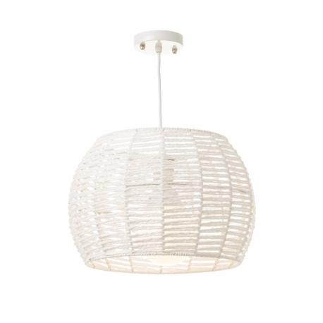 Lámpara colgante de metal blanca minimalista para cocina Vitta