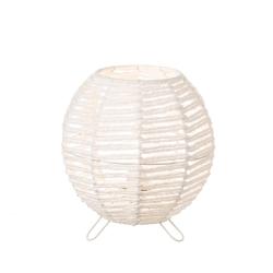 Lámpara de mesa de metal blanca minimalista para salón Vitta