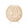 Lámpara de mesa de rattan natural beige étnico para dormitorio France
