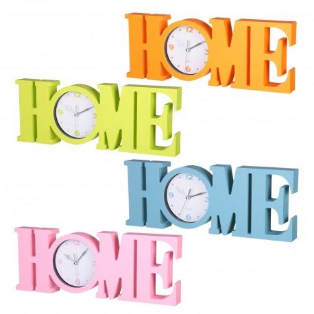 "Reloj pared romantico liso plástico diseño ""home"" 39 x 3,70 x 14,60 cm"