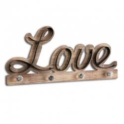 Perchero madera para pared Love