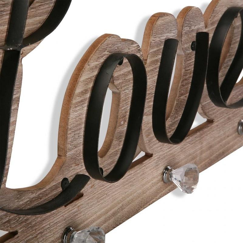 Perchero madera para pared love - Perchero madera pared ...