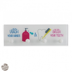 Perchero cristal para baño WASH & BRUSH