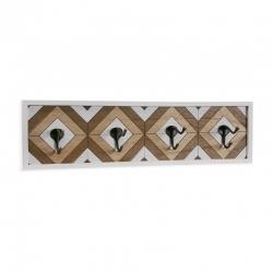 Perchero madera para pared 4 ganchos Kenya