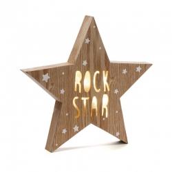 Caja de luz forma estrella ROCK STAR
