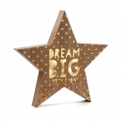Caja de luz forma estrella DREAM