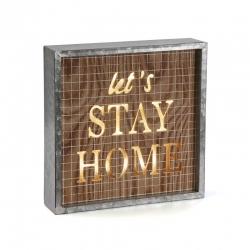 Caja de luz vintage STAY HOME