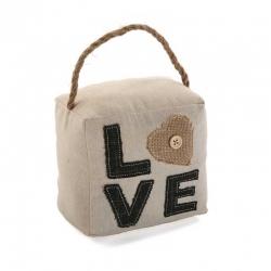Sujetapuertas cuadrado Love
