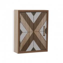 Caja llaves 6 colgadores de madera forma casa KENYA