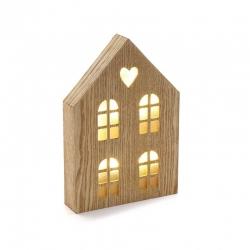 Caja de luz forma casa con ventanas