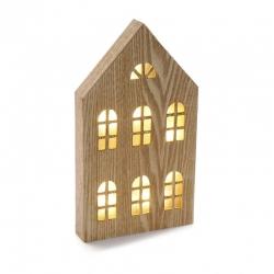 Caja de luz forma casa ventanas