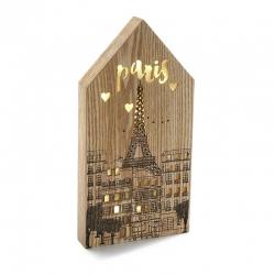 Caja de luz forma casa ciudad PARIS