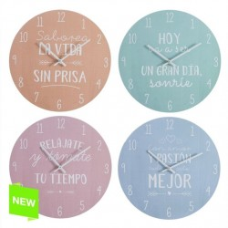 Reloj de pared diseño original frases divertido color 4/m madera