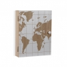 Caja llaves 6 colgadores de madera mapa mundo