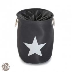 Cesto pongotodo para ropa estrella gris oscuro
