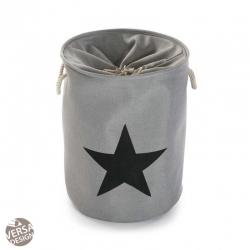 Cesto pongotodo para ropa estrella gris claro