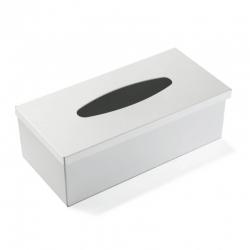 Caja pañuelos acero blanca