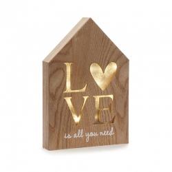Caja de luz forma casa love romantica