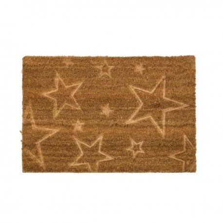 Felpudo de fibra de coco estrellas 40x60 cm