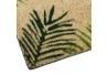 Felpudo de fibra de coco con antideslizante verde étnico para la entrada de 60x40 cm Sol Naciente