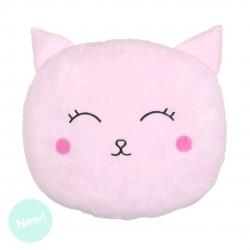 Cojin original forma gato rosa