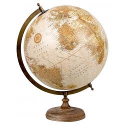 Bola del Mundo, Madera, Multicolor, 33 x 30 x 40 (diámetro de 30cm)