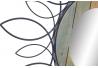 Espejo de pared madera metal 80 cm