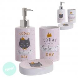 Accesorios de baño modernos gato de cerámica para cuarto de baño Fantasy