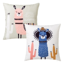 Juego de 2 Cojín de cactus rosa de poliéster étnico para dormitorio Iris