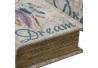 Juego 2 caja libro de madera boho de pluma étnica para salón Iris