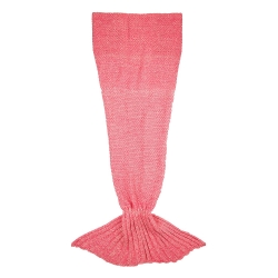 Manta de sofá sirena Rosa Coral de poliéster para salón Iris 180x90 cm