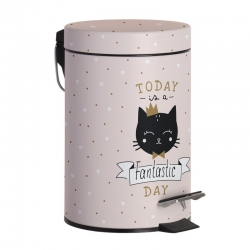 Papelera 3L metal Cat lover
