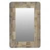 Espejo madera de pared boho 40x60 cm
