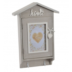 Caja guardallaves de madera Home romantico 23x6x35 cm