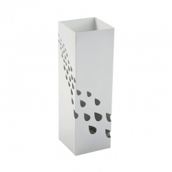Paraguero metal drops gotas de agua blanco