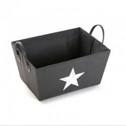 Cesta organizador estrella gris