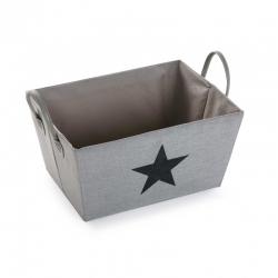Cesta organizador estrella gris claro
