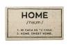 """Felpudo Original y Divertido Entrada Casa """"HOME"""" 40x70cm Natural y Negro"""