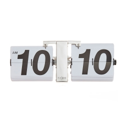 Reloj de pared flip clock blanco