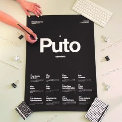 Calendario de pared mas chulo El Puto Calendario 2018