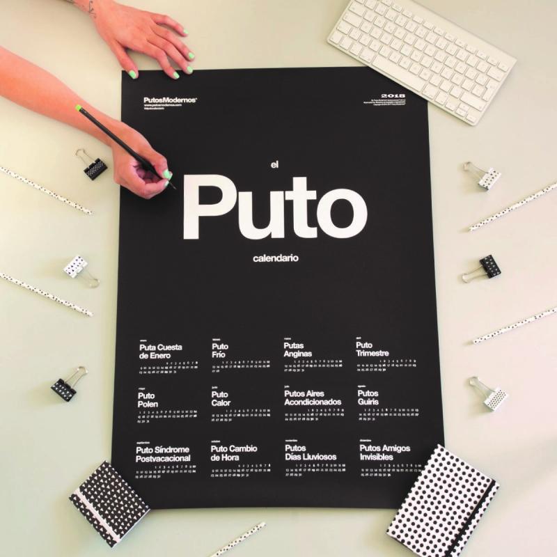 Calendario de pared mas chulo El Puto Calendario 2018 | dcasa.es
