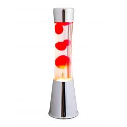 Lampara lava color rojo decorativo