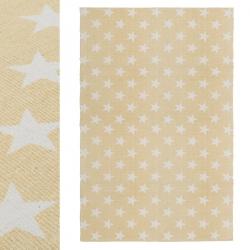 Alfombra multiuso algodon estrellas blanco beige 180 x 120 cm