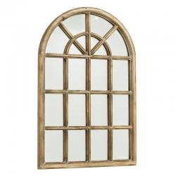 Espejo de ventana de abeto marrón provenzal para salón de 61 x 91cm France