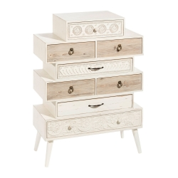 Sinfonier blanco de madera de diseño vintage para dormitorio France
