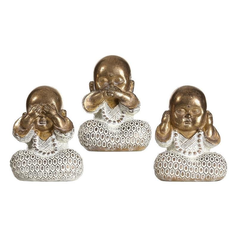 Set 3 Figurita Buda De Suerte Poliresina Decoracion 10 Cm Ver Oir Callar Dcasa Es