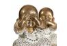 Set 3 figurita buda de suerte poliresina decoracion 10 cm . (ver , oir , callar )